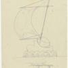 Act II: Elevation and plan view of sailboat