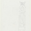 "Act I: Front elevation of grandfather clock, signed in pen, ""1988 RTA"""