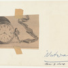 "Act I: Inspiration for Drosselmeyer's pocket watch - taped clipping of image of pocket watch face, with notation ""Nutcracker, face of clock"""