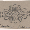 Act I: Stencil pattern of lace motif for living room scene small curtain, full scale
