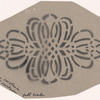 Act I: Stencil pattern of lace motif for living room scene large + small curtain, full scale