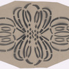 Act I: Stencil pattern of lace motif for living room scene large curtain, full scale