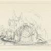 Act II: Concept sketch of castle interior