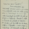 Letter to Arturo Toscanini from Bruno Walter