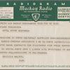 Telegram (N15) to Arturo Toscanini from Bruno Walter