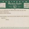 Telegram to Arturo Toscanini from Bruno Walter