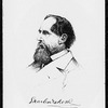 Jackson, S. J. Original pen and ink portrait of Charles Dickens