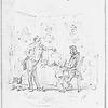 Uncommercial traveller. Browne, H. K. Original unpublished pencil drawing