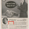 No more 5 o'clock fatigue for me! Model Sara Lou Harris in advertisement for Remington Rand electric adding machines