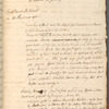 """Draft indenture and """"Historical Memoirs"""" entries for 1761 November 11-14"""