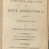 New York City directory, 1800