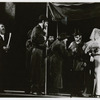 Zero Mostel, Austin Pendleton and unidentified others in the stage production Fiddler on the Roof