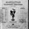 Manhattan Telephone Directory, 1940 Issue