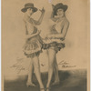 Studio portrait of chorus girls Marion Tyler and Lula Williams