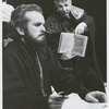 Robert Symonds and William Hutt in the stage production Saint Joan