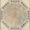 Octagonal map of the environs of Richmond, Virginia