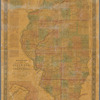 New sectional map of the state of Illinois: compiled from the United States surveys ; also exhibiting the internal improvements, distances between towns, villages & post offices ; the outlines of prairies, woodlands, marshes & the lands donated to the state by the Gen. Govt. for the purpose of internal improvements