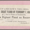 The Great Flood of February 7, 1884, [houses and railroad tracks in water], Steubenville, Ohio