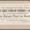 The Great Flood of February 7, 1884, Cotton Factory [in water], Steubenville, Ohio