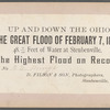 The Great Flood of February 7, 1884, [houses and surrounding land in water], Steubenville, Ohio