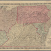 Colton's map of Virginia, Maryland, Delaware, Pennsylvania, New Jersey: and part of the adjoining states