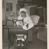 Elsie Ferguson sewing for Stage Women's War Relief