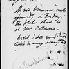Cruikshank, George. AL (draft) to Dickens