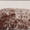Bethlehem, Palestine: Pilgrims entering on Christmas Day