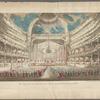 Vue perspective de l'interieur de la salle du spectacle de Veronne en Italie