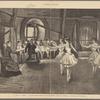La danse a l'Opéra: la classe du premier quadrille, leçon de Mme Théodore dans le pavillon de la bibliothèque