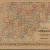 Colton's map of the state of Indiana: compiled from the United States surveys & other authentic sources, exhibiting sections, fractional sections, railroads, canals &c.