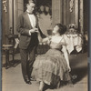 Frank Craven and unidentified actress in the stage production Seven Chances