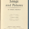 Songs and pictures: a child's book
