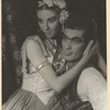 With Hugh Laing in Massine's Ballet, Aleko