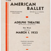 American Ballet program at Adelphi Theatre