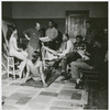 Artist Romare Bearden in a sketch group with Marvin and Morgan Smith, James Yeargans and Hartwell Yeargans