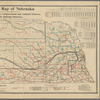 Official map of Nebraska: showing railroads, irrigation, congressional and judicial districts with railroad statistics