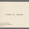 Shenk, Cyrus Edgar