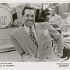 Candid portrait of singer and bandleader Cab Calloway with baton