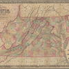 Colton's new topographical map of the states of Virginia, Maryland and Delaware: showing also eastern Tennessee & parts of other adjoining states, all the fortifications, military stations, rail roads, common roads and other internal improvements