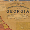 Watson and Adams new topographical, county & railroad map of Georgia: for school, library and official use : from official records and surveys