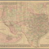 County map of the state of Texas: showing also portions of the adjoining states and territories