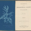 Cyanotype reproduction of seaweed (Ptilota Plumosa) ; Proceedings of the Royal Philosophical Society of Glasgow, Vol. XXI, 1889-90 [Title page]
