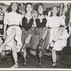 Cast members backstage during the original Broadway production of Oklahoma!