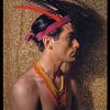 Hugh Laing in improvised fantastic Indian costume