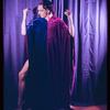Donald Saddler wearing a velvet robe belonging to Carl Van Vechten