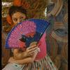 "Carmen Vasquez in cafe scene from the musical ""Cabalgata: Spanish Musical Cascade"""
