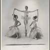 Janice Groman and Joyce Feldman as Candy Flowers flanking Diana Adams as Dewdrop in The Nutcracker, no. 58