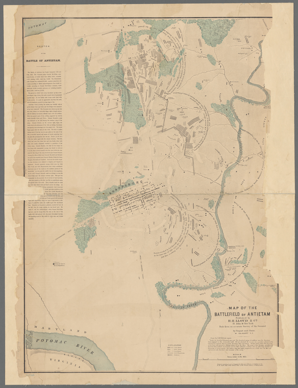 Map of the battlefield of Antietam