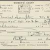 Mabel Hampton court card